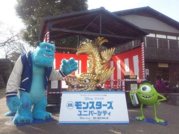 名古屋城ではシャチホコと記念撮影