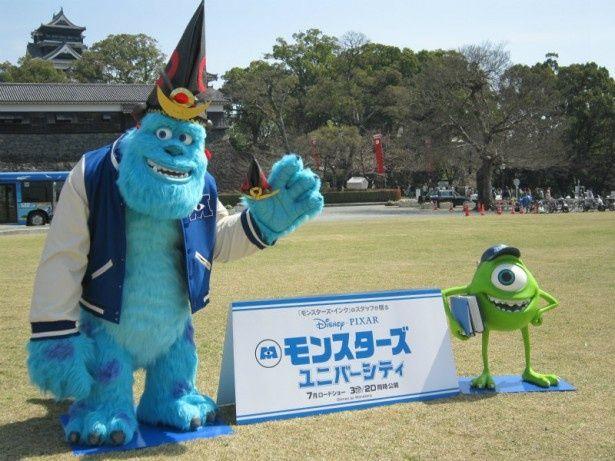 熊本城に訪れたサリーとマイク