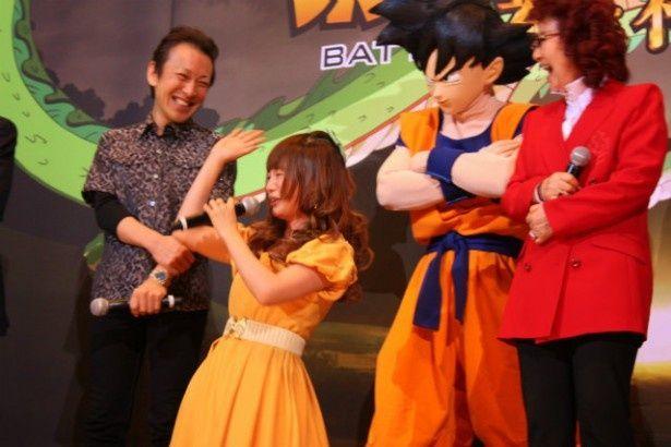 ベジータに叱咤され、大喜びの中川翔子