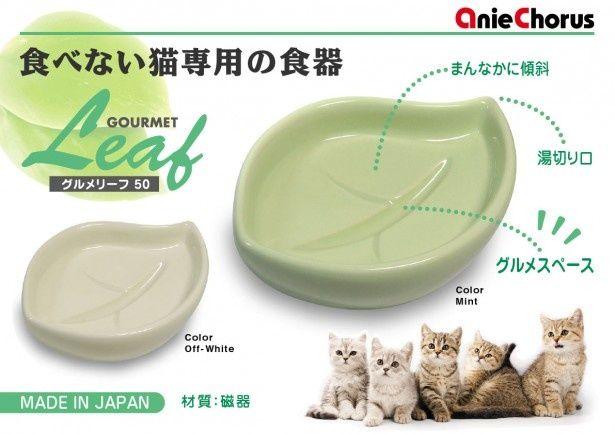 暑くなると予想される今年の夏に向け、食欲低下中の猫にも無理なく食事をさせられる猫専用の食器が登場