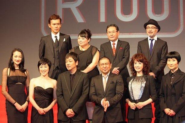 新作映画『R100』の製作報告記者会見に松本人志監督、大森南朋、大地真央ら豪華キャストが集結