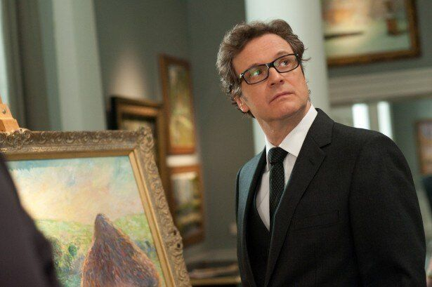 堅物だがどこか抜けていて詰めが甘い美術鑑定士ハリーを演じるコリン・ファース