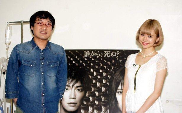 イベントに登場した南海キャンディーズ・山里亮太と水沢アリー(写真左から)