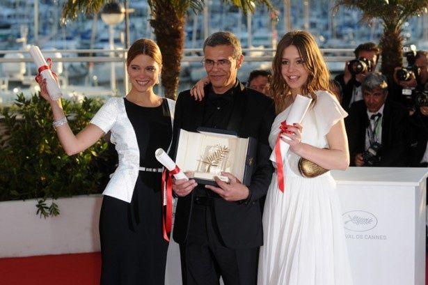 パルム・ドールを獲得したアブデラティフ・クシシュ監督と主演女優の2人