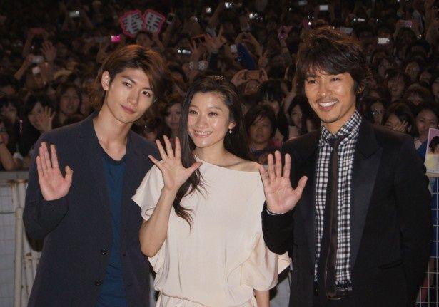 イベントに登場した三浦春馬、篠原涼子、藤木直人(写真左から)