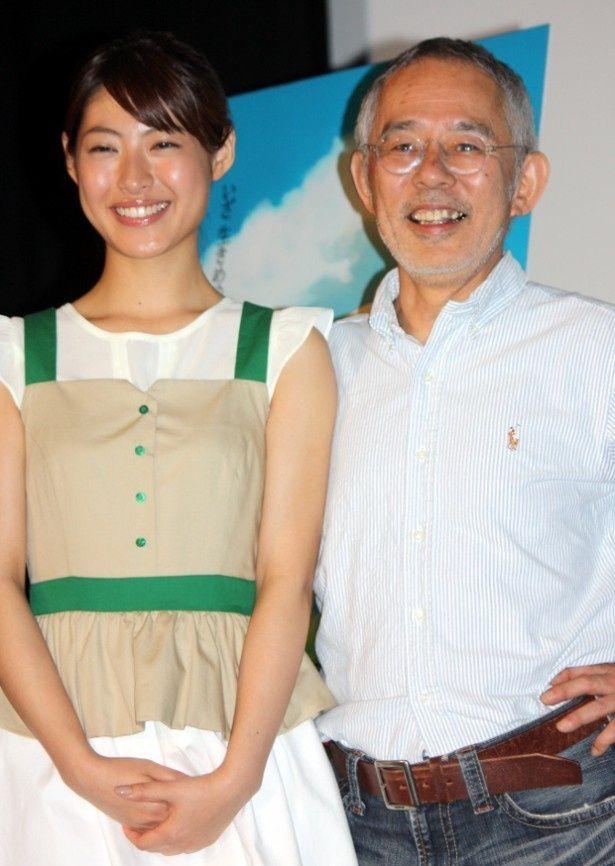 ヒロイン役の瀧本美織と鈴木プロデューサーが会見に登壇