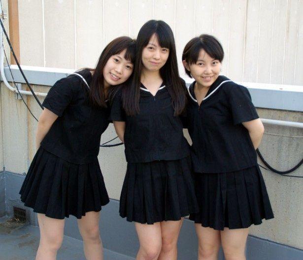 サブカル好きからも注目を浴びるBELLRING少女ハート。左から仲野珠梨、宇佐美萌、美月友華