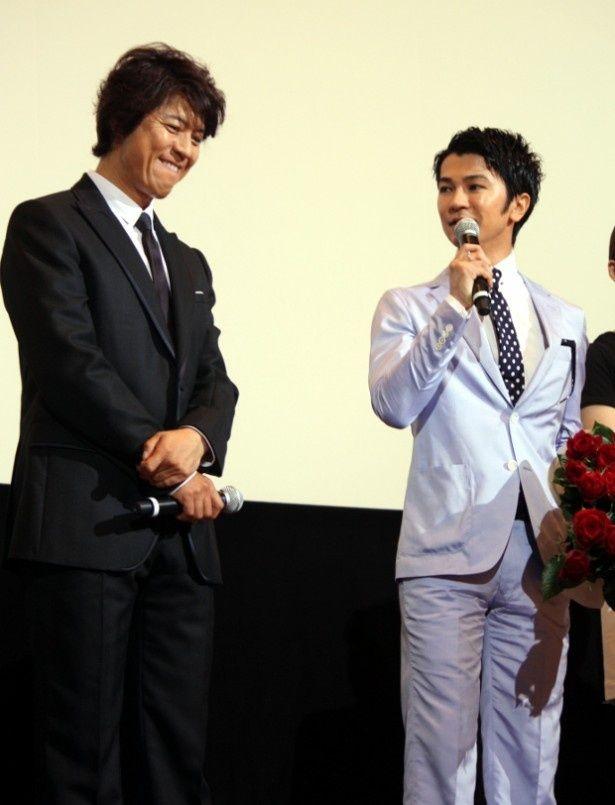 上川隆也、武田真治の暴走コメントにタジタジ