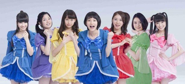GMT47を演じる(左から)斎藤アリーナ、蔵下穂波、大野いと、能年玲奈、松岡茉優、山下リオ、優希美青