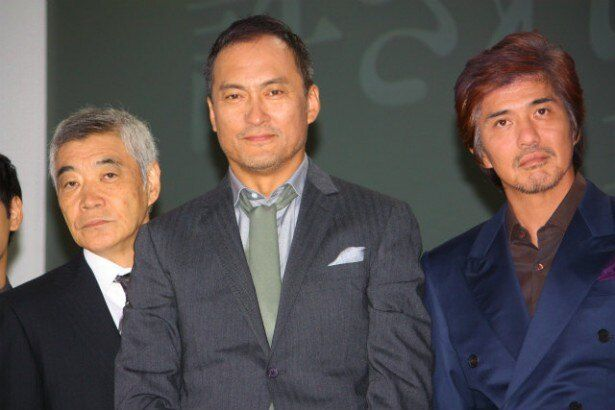 渡辺謙、佐藤浩市、柄本明たちが『許されざる者』の会見に出席