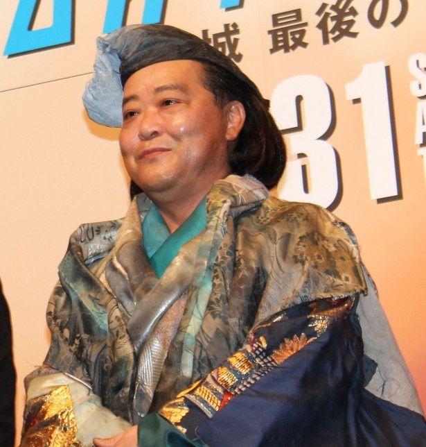 上島竜兵は権之助の護衛で博多を目指すことになる豪商・島井宗叱役を演じる