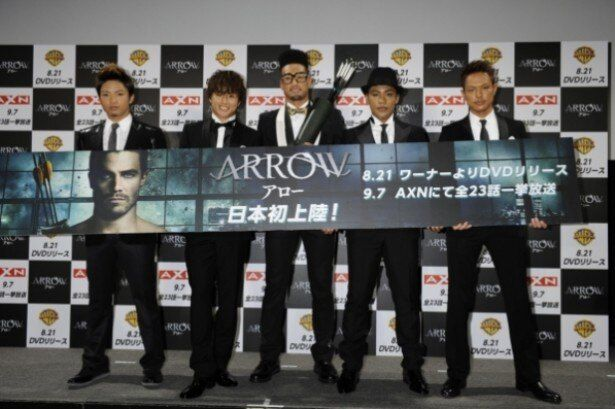 EXILE TRIBEの「BURING UP」が流れる「ARROW / アロー」