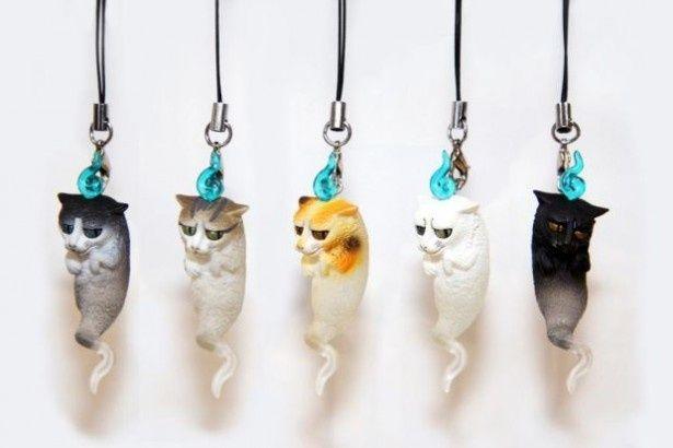 化け猫ストラップ「ねこだましぃ」は全6種。シークレットデザインにも注目が集まる