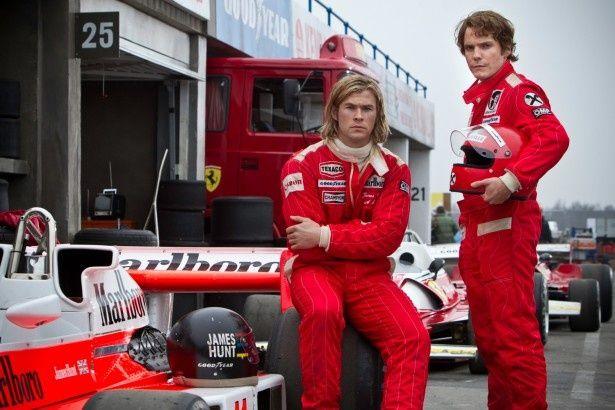 クリス・ヘムズワースとダニエル・ブリュールが実在したF1ドライバーを演じる