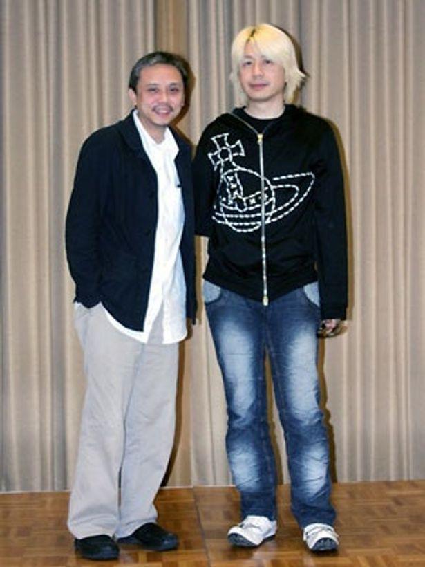 ゴードン・チャン監督(左)と音楽担当の藤原いくろう