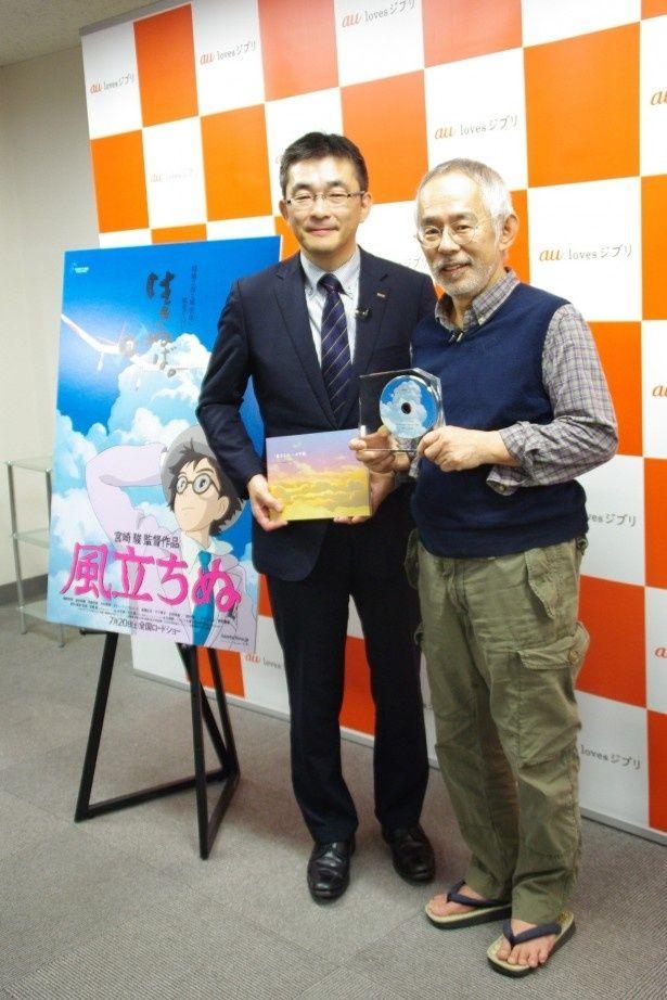 『風立ちぬ』への思いが形になり、ジブリの鈴木プロデューサーへ手渡された