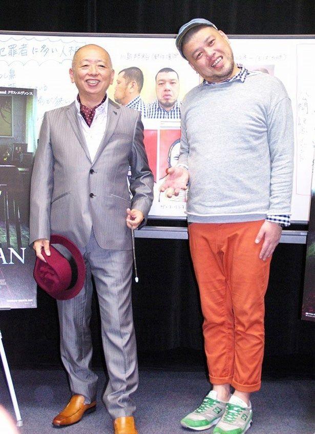 パーソノロジー(人相科学)の第一人者・石丸賢一(写真左)と野生爆弾の川島邦裕(写真右)