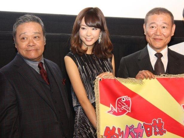 『あさひるばん』で共演した國村隼、桐谷美玲、西田敏行