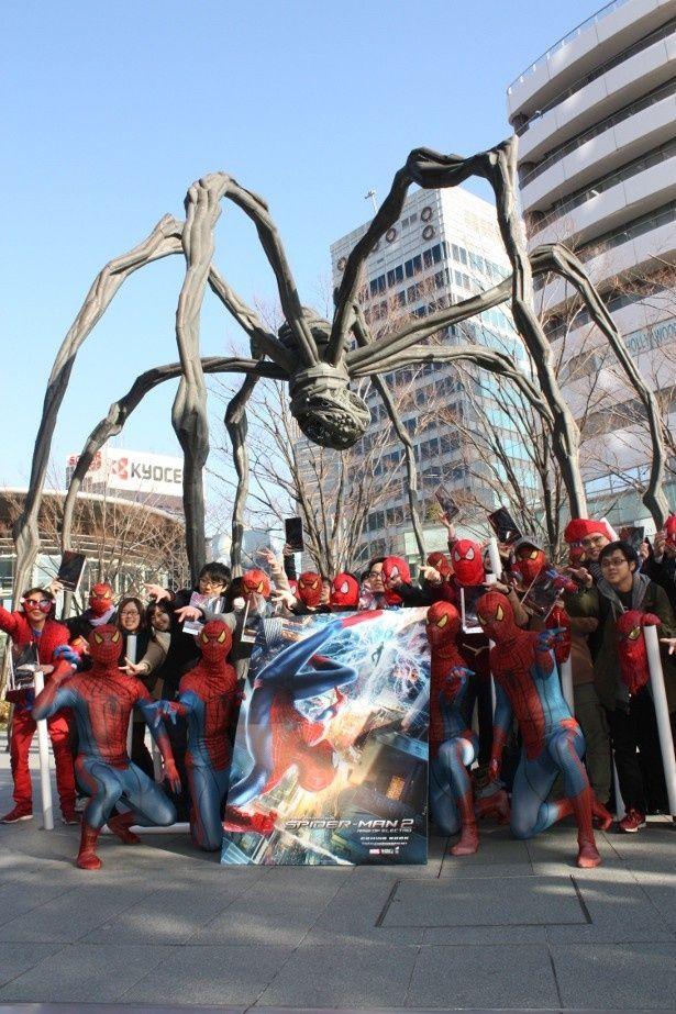 『アメイジング・スパイダーマン2』の前売り券発売イベントが六本木で開催!