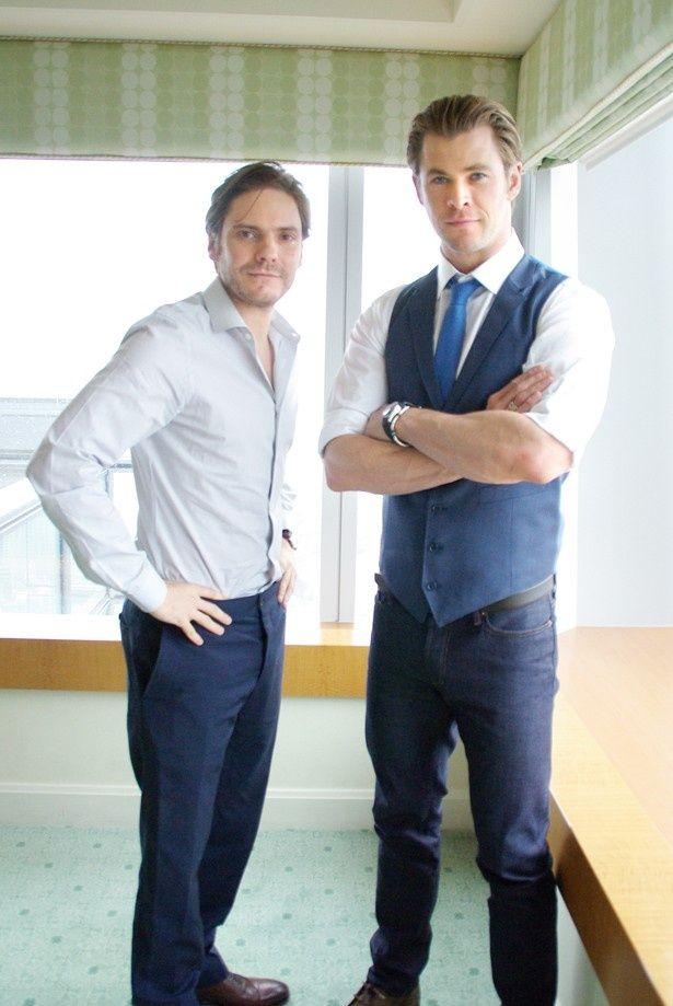 話題作への出演が相次ぐクリス・ヘムズワースとダニエル・ブリュールにインタビュー!