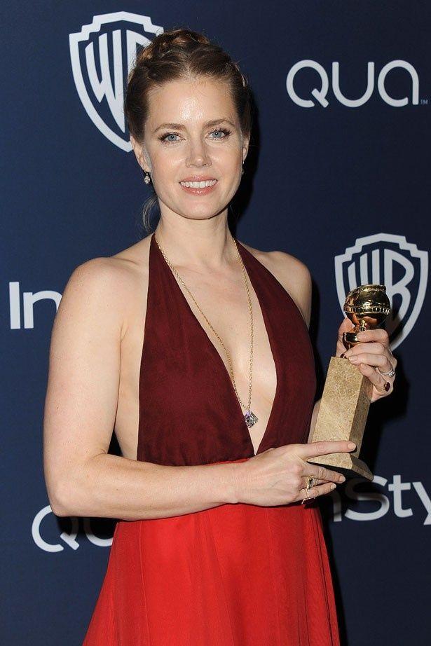 ゴールデングローブ賞の授賞式でヴァレンティノのドレスを着ていたエイミー