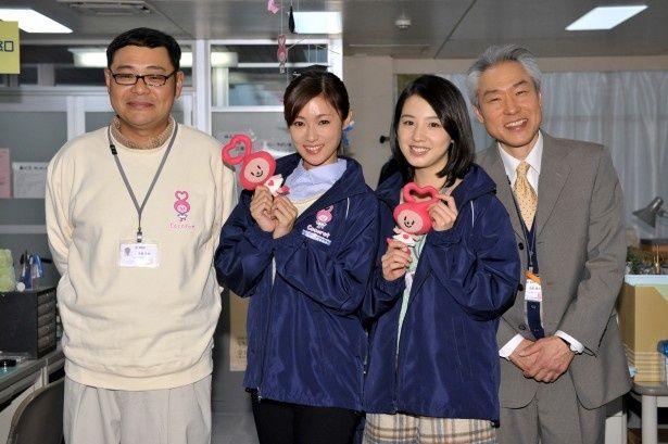 取材会出席した田口浩正、深田恭子、桜庭ななみ、モロ師岡(写真左から)