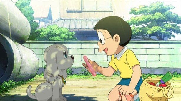 【写真を見る】のび太と子犬のペコの出会いが冒険のきっかけに