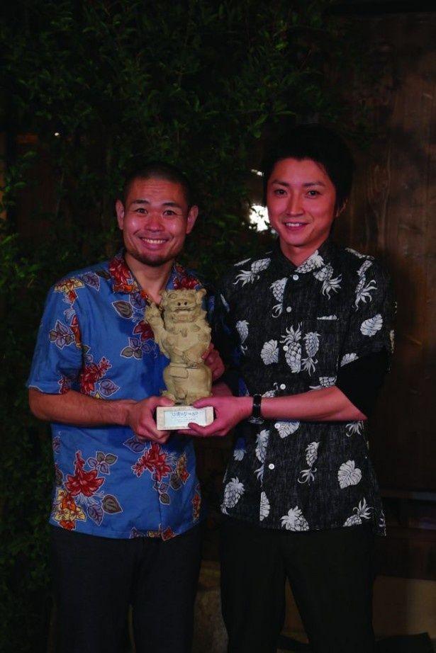 映画祭終了後沖縄に駆け付けた藤原竜也と合流した品川ヒロシ監督