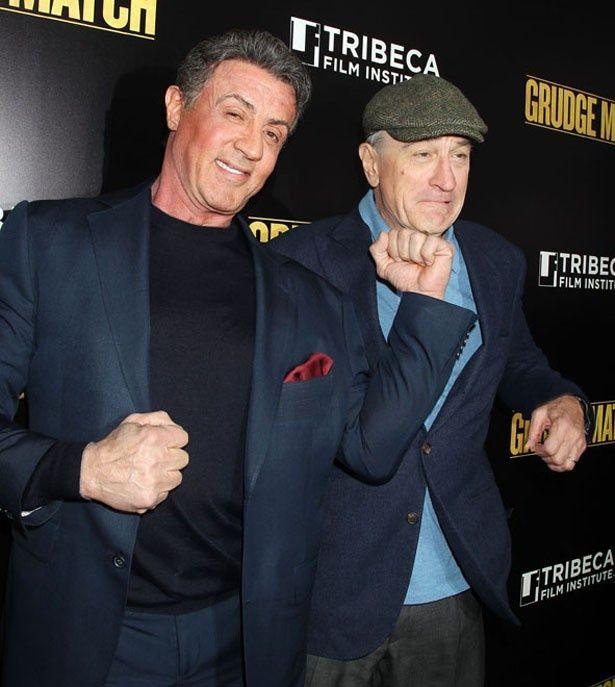『リベンジ・マッチ』で拳を交えたシルベスター・スタローンとロバート・デ・ニーロ