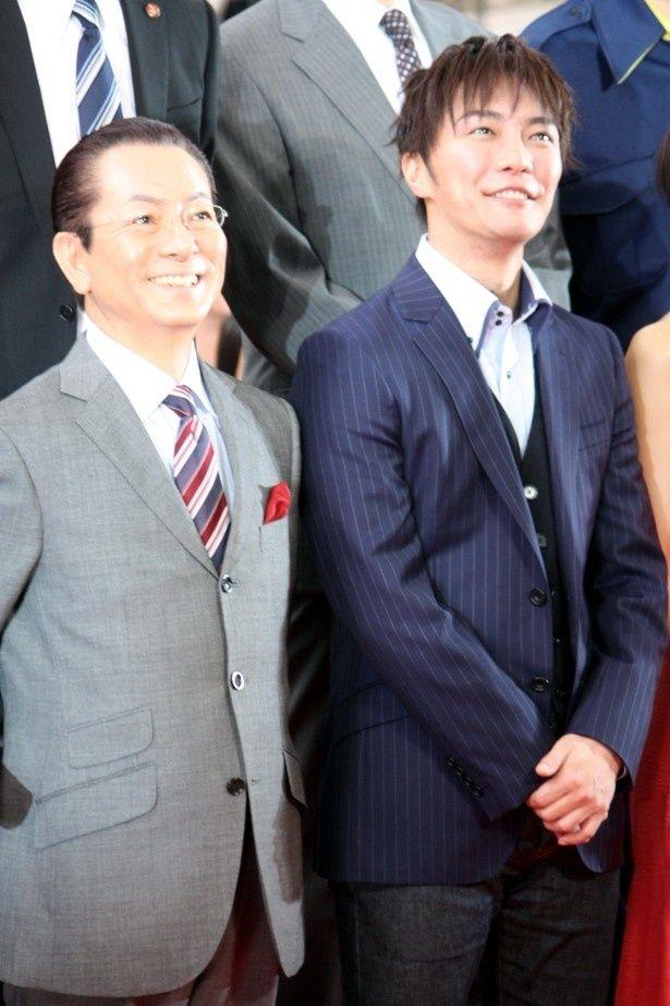 『相棒 劇場版III』のプレミアイベントに登壇した水谷豊と成宮寛貴