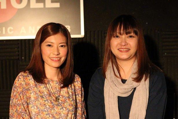 住岡梨奈さん(左)と部門賞を獲得したAyakaさん(右)