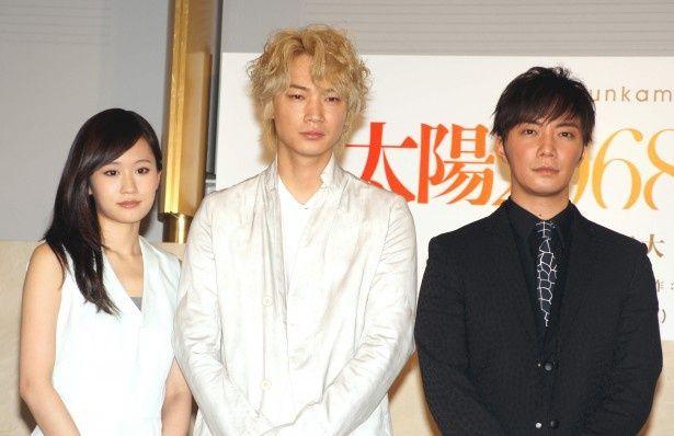 前田敦子、綾野剛、成宮寛貴(写真左から)