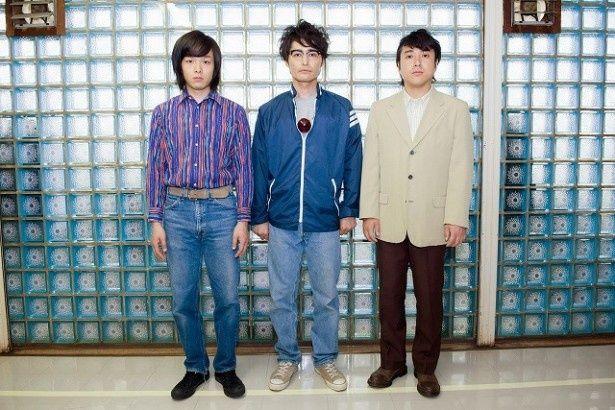 「ドラマ24 アオイホノオ」(テレビ東京系)に出演が決定した(左から)中村倫也、安田顕、ムロツヨシ