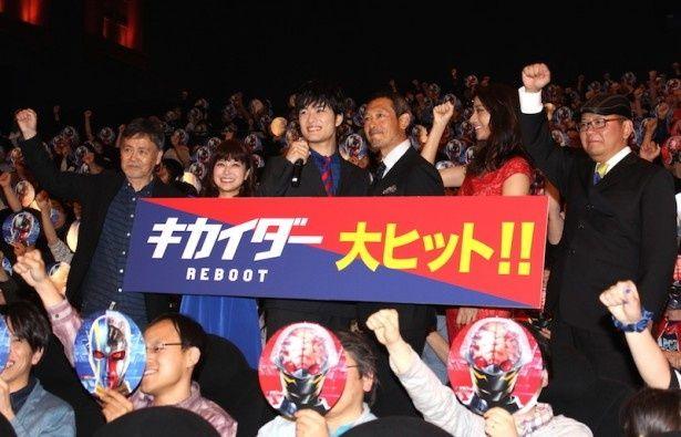 【写真を見る】新旧キカイダー入江甚儀&伴大介の登場に、会場も大いに沸いた