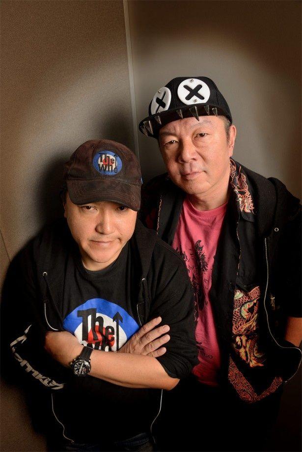 いのうえひでのり(左)と古田新太(右)