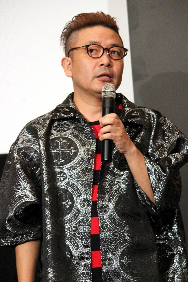 『TOKYO TRIBE』の舞台挨拶に登壇した園子温監督