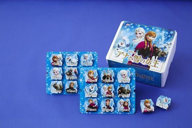 アナやエルサ、オラフなどの人気キャラクターがパッケージされた「ディズニーコレクション『アナと雪の女王』アイスセット」