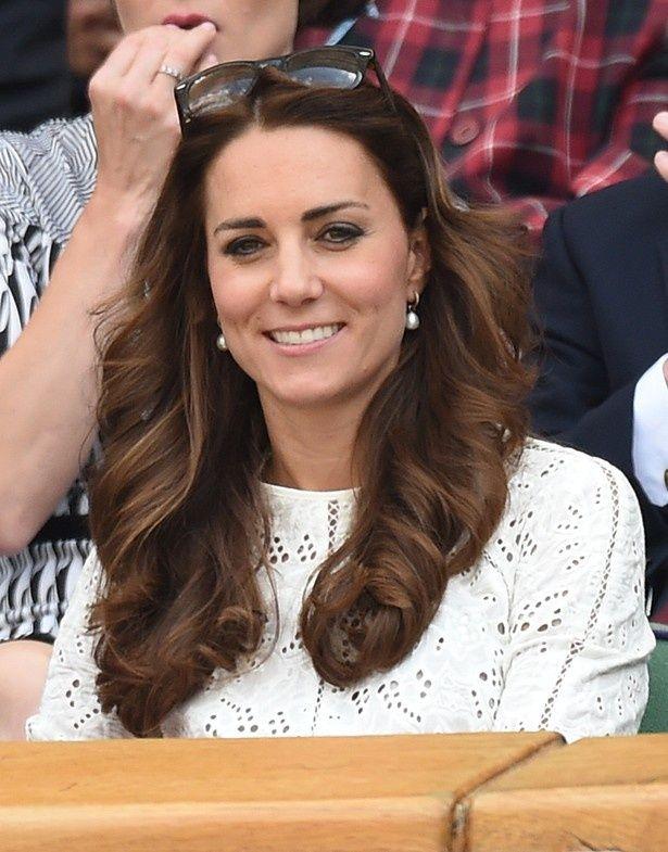 ロンドンで開催されたウィンブルドン選手権を観戦したキャサリン妃