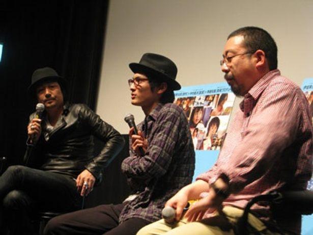左から大森南朋、高良健吾、中村義洋監督