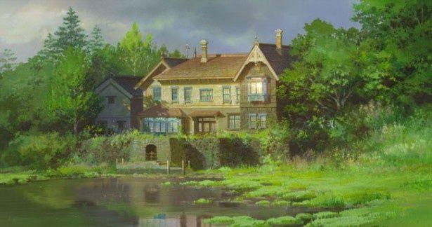 マーニーが暮らす湿っ地屋敷。近所に住む人はマーニーのことを知らない