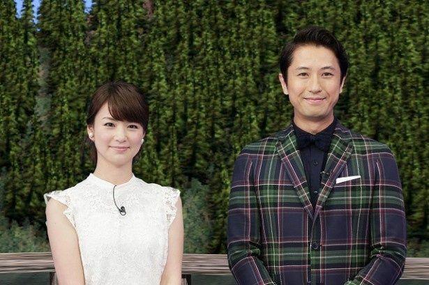 番組MCを務める(写真右から)谷原章介と秋元玲奈アナ