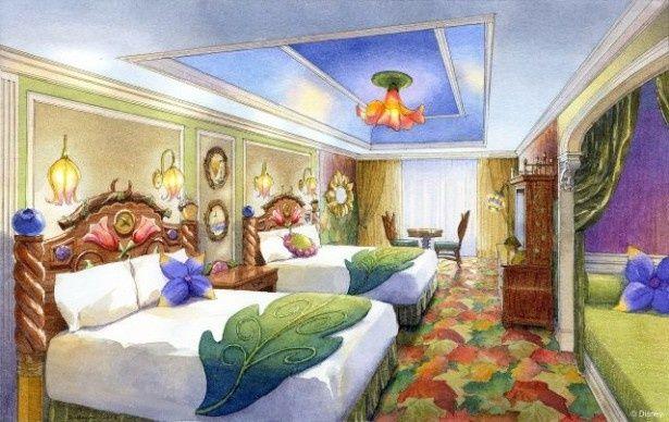 ディズニー映画『ティンカー・ベル』の世界観をテーマにした客室