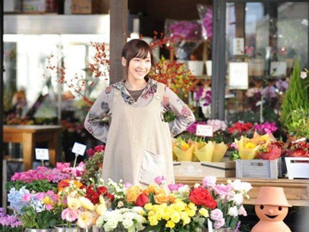 フラワーデザイナーを目指すヒロイン・七緒を、麻生久美子が好演