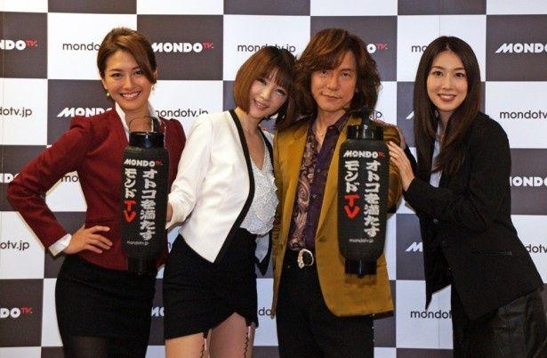 左から矢吹春奈、森下悠里、ダイアモンド☆ユカイ、小林恵美