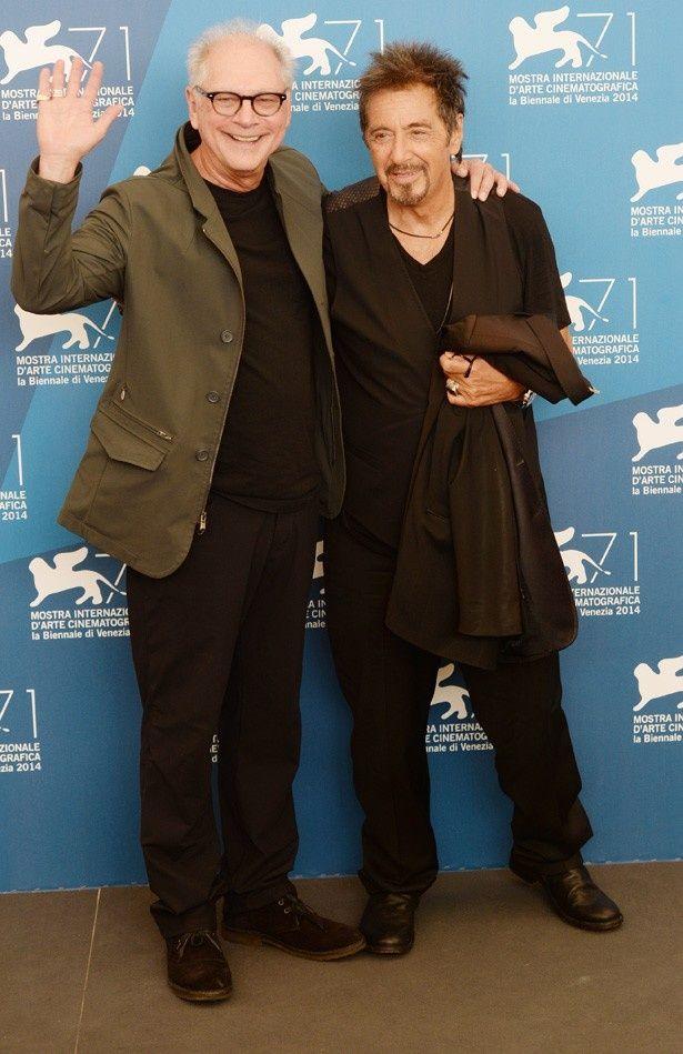 ヴェネチア国際映画祭でバリー・レヴィンソン監督と一緒に