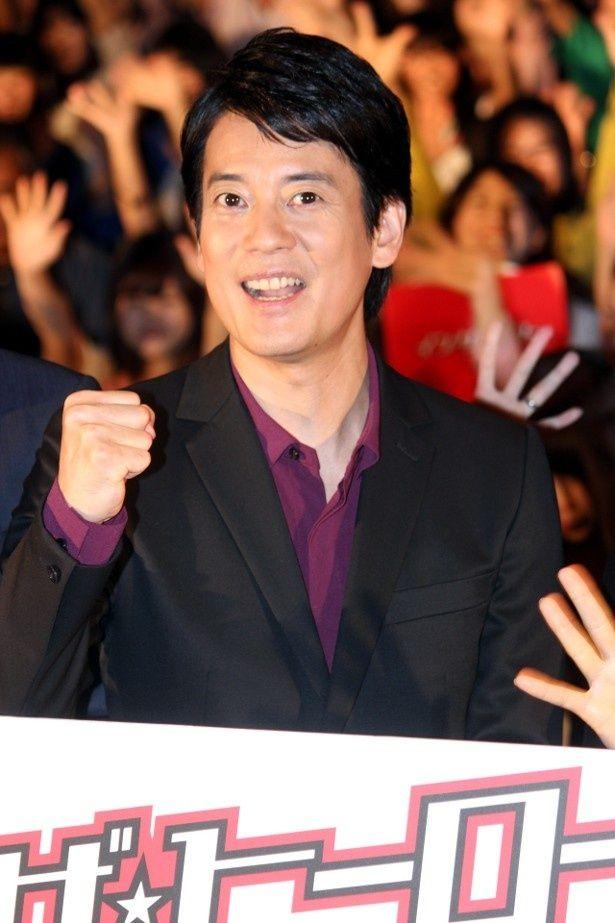 『イン・ザ・ヒーロー』の初日舞台挨拶に登壇した唐沢寿明