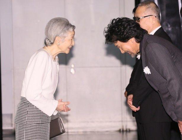 皇后陛下が『蜩ノ記』を鑑賞され、役所広司も緊張しっぱなしだったという