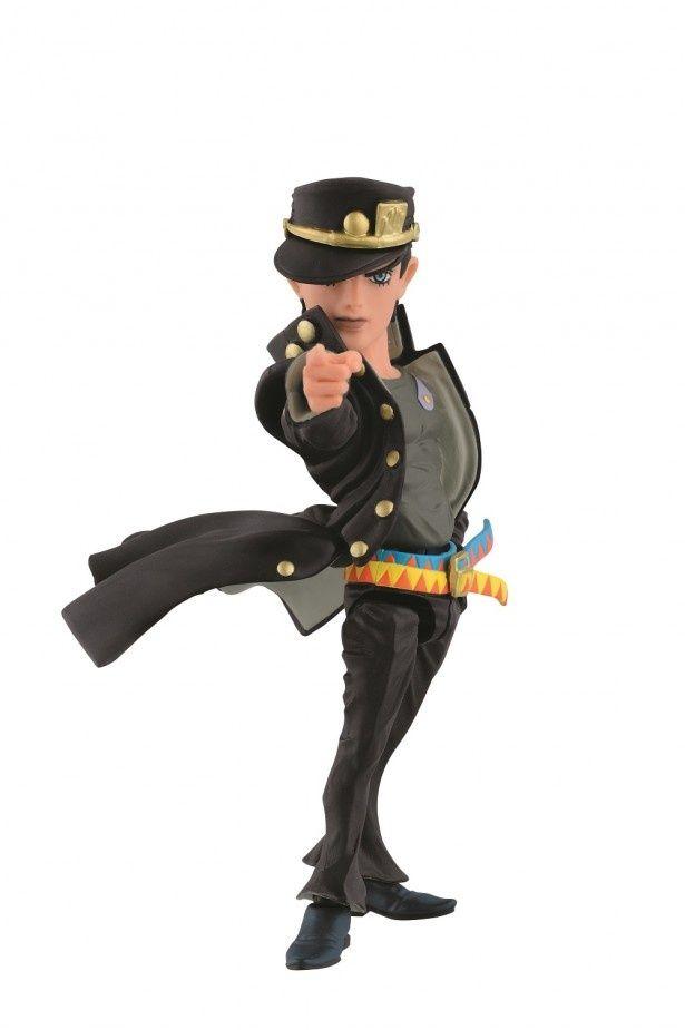 B賞「承太郎可動フィギュア~やれやれだぜ~ver.」。承太郎の決めポーズが格好良い。全高約12cm