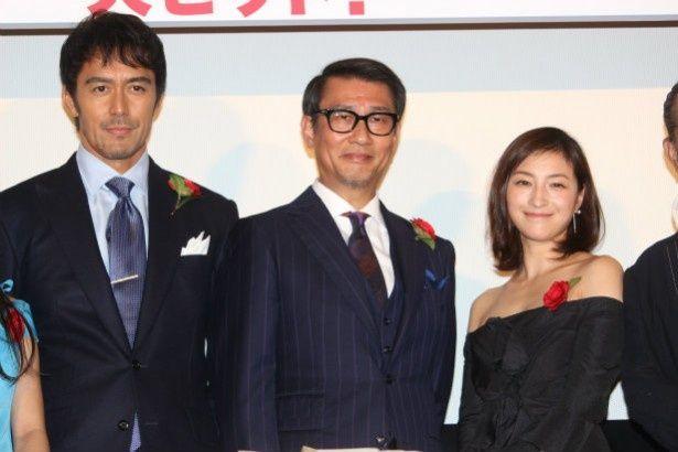 中井貴一、阿部寛、広末凉子らが『柘榴坂の仇討』の初日舞台挨拶に登壇