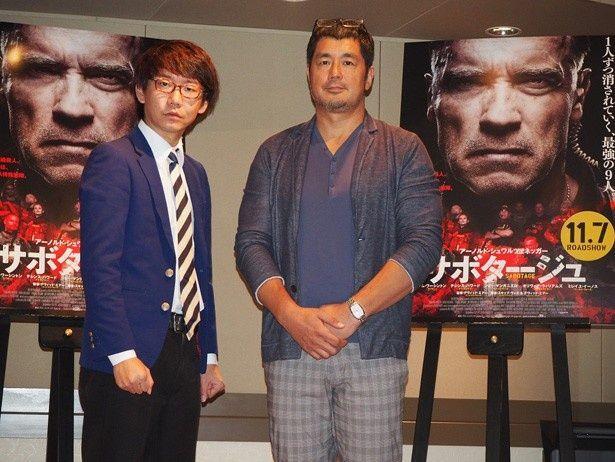公開アフレコに挑戦した高田延彦とお笑いコンビ三四郎の小宮浩信